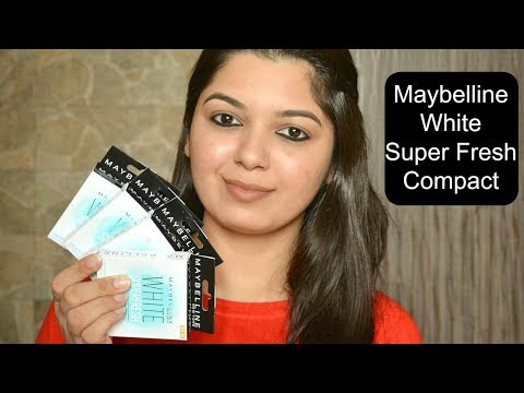 Maybelline White Super Fresh Compact | Demo , Review & Swatches of All 4 Shades