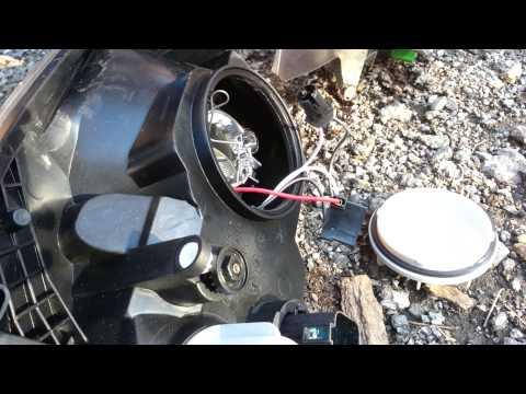 change headlight bulbs Ford Fiesta  (one method)