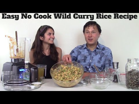 Easy No Cook Bloomed Wild Curry Rice Vegan Recipe