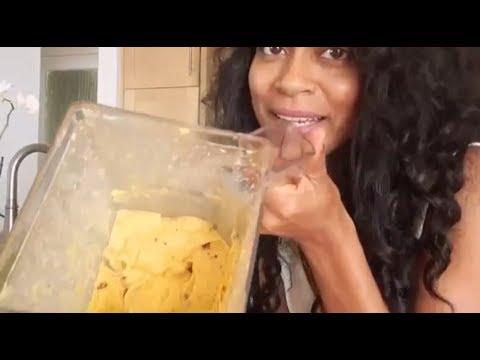 "Easy How to make ""Nice Cream"" Recipe 4 ingredients (no banana) (raw-vegan ice cream)"