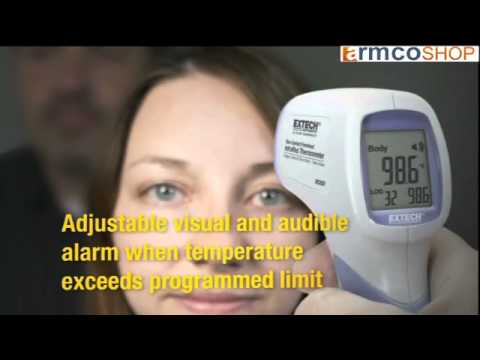 How to use the Non-Contact Forehead InfraRed Thermometer IR200 by Extech