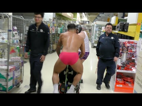 VENGABOYS BASSLINE Remix  RAVE IN TESCO *they were fuming police called*