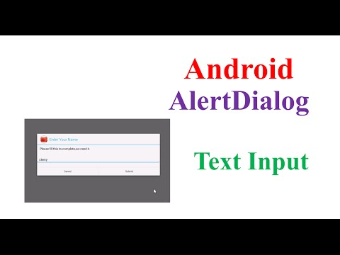Android InputBox AlertDialog
