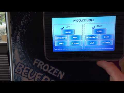 New Digital Display Slush & Yogurt Machine Australia with Video Screen & Touch Screen Operation