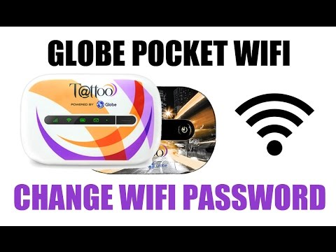 How to Change Globe tattoo WiFi pocket password