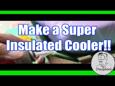 Make a Super Insulated Van Console Cooler Box with Spray Foam!!