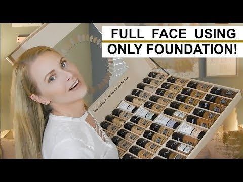 FULL FACE MAKEUP USING ONLY FOUNDATION | skip2mylou
