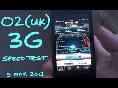 Real World O2 (UK) 3G Speed Test