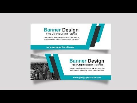 Business Banner AD Design Tutorial - Photoshop CC
