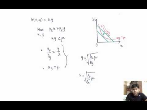 L1.16 - Cobb Douglas (Hicksian Demand function)