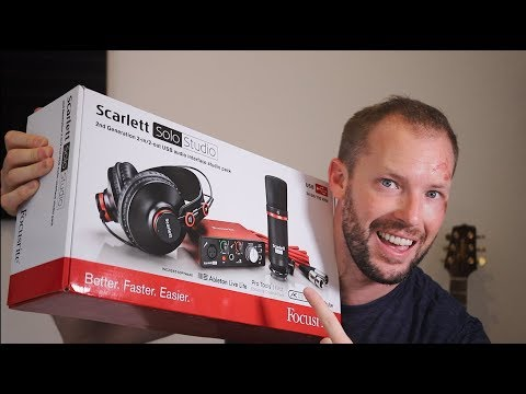 500 Subs + GIVEAWAY!    (Scarlett Solo Studio - Focusrite)