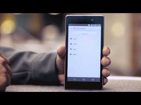 EE -- Sony Xperia Z1 -- How do I copy contacts from my SIM