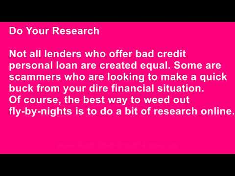 What Should I Do Before Applying for a Bad Credit Personal Loan?