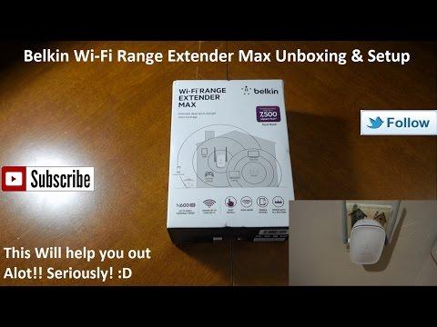 Belkin Wi-Fi Range Extender Max Unboxing & Setup