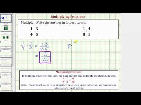 Ex 1: Multiply Fractions (Basic)