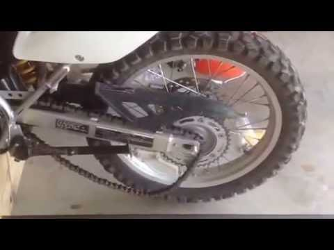 Honda CRF 230 L dual sport dirt bike wheel removal