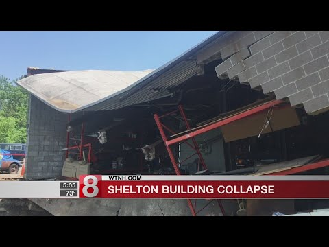 Building partially collapses into the Housatonic River in Shelton