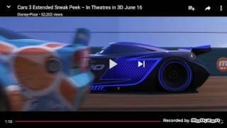 Cars 3 extended sneak peek reaction