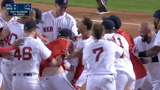 STL@BOS: Betts walks off on a two-run double to left