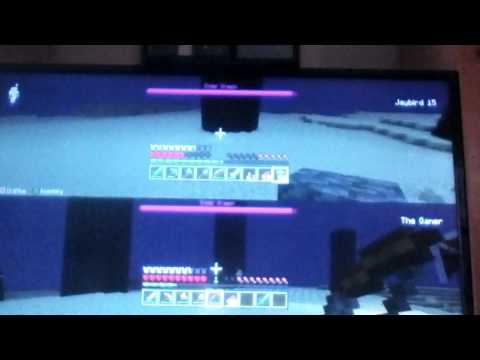 Minecraft ps3: killing the ender dragon
