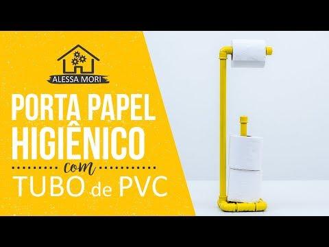 ⭐ PORTA PAPEL HIGIÊNICO DE CHÃO COM CANO DE PVC | DIY