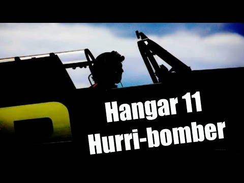 CRHnews -  Hurri-bomber photo tribute Hangar 11 North Weald aerodrome