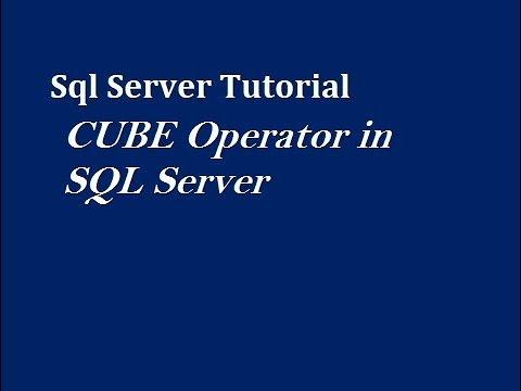 CUBE Operator in SQL Server