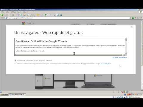 Installer le navigateur Google Chrome en remplacement d'IE
