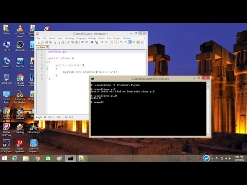 How to create java package using cmd