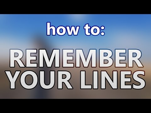 How to remember lines as a actor, using industry standards (Film, Theatre, Television)
