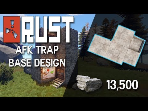 Building 3.0 AFK RUST TRAP BASE DESIGN!  - Rust Base Building (13,500 Stone in TOTAL)