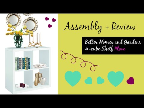 Better Homes and Gardens Square 4-Cube Organizer | REVIEW + ASSEMBLY