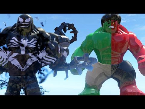 LEGO Fight Hulk(Transformation) Vs Venom (Transformation) Vs Red Hulk