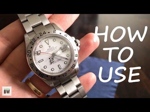 How to use a true GMT movement (Rolex Explorer 2)