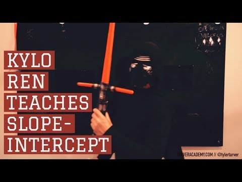 Kylo Ren teaches Slope Intercept Formula y=mx+b