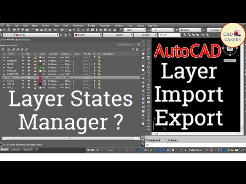 IMPORT EXPORT OF LAYER IN AUTOCAD | LAYER IMPORT EXPORT IN AUTOCAD | CAD CAREER