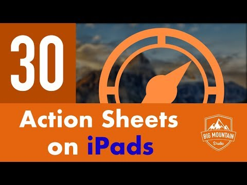 Action Sheets on iPads - Part 30 - Itinerary App (iOS, Xcode 10, Swift 4)