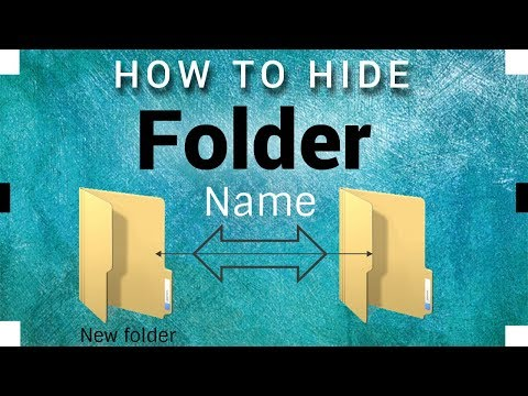 How To Remove Hide Folder Name Program In - (Windows 7/8/8.1/10) ~ 2018 Tutorial