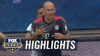 Arjen Robben scores winning goal for Bayern Munich   2016-17 Bundesliga Highlights