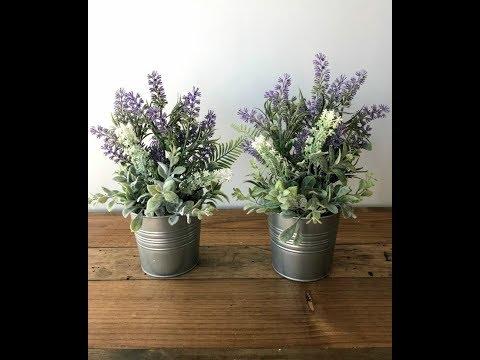 Easy Floral Lavender Pots