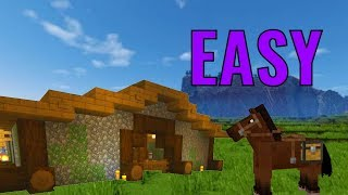 How To Build A Horse Stable In Minec5raft Videos 9tubetv