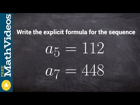 How to write the explicit formula of a geometric sequence given two terms of