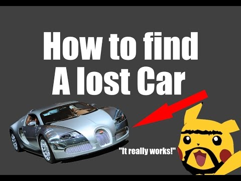 How to find a Lost Car (Joke)