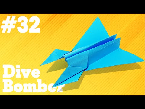 How to make a paper airplane that Flies - Simple Origami paper planes for Kids #32| Dive Bomber