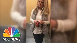 Watch: White Woman Attempts To Block Black Man From Entering His Apartment Building | NBC News
