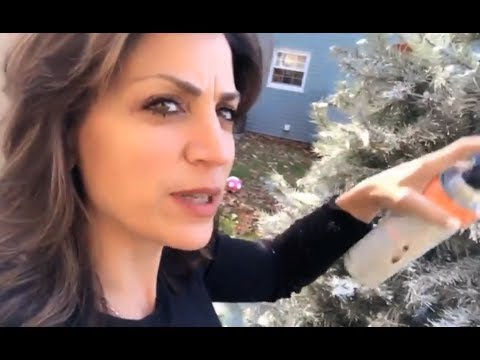 How to Flock Your Artificial Christmas Tree! I'm Not Flocking Kidding! :) #justAndrea
