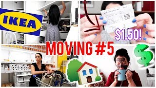 Moving Vlog #5! Ikea Adventure, Cvs Couponing (free Stuff!), Organizing Makeup, Brow Touch Up!