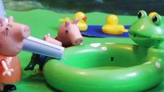 Игры Свинка Пеппа - Peppa Pig - Прыжки в воду большой