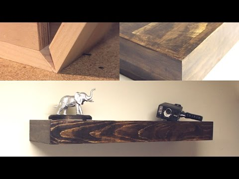 DIY Seamless Rustic Floating Shelves