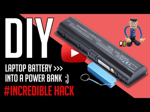 Diy powerbank out of recycled laptop battery!